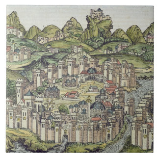 View of the walled city of Constantinople, from th Ceramic Tiles