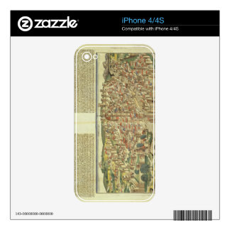View of the walled city of Florence, from the Nure Decals For The iPhone 4S