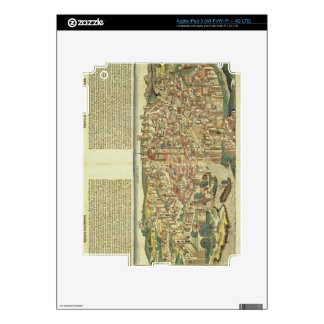 View of the walled city of Florence, from the Nure iPad 3 Decals