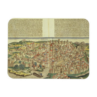 View of the walled city of Florence, from the Nure Rectangular Photo Magnet