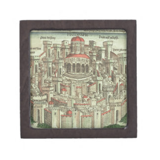 View of the walled city of Jerusalem showing the T Jewelry Box