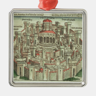 View of the walled city of Jerusalem showing the T Metal Ornament