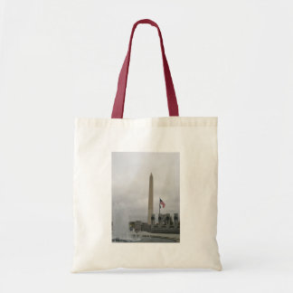 View of the Washington Monument from WWII Memorial Canvas Bags