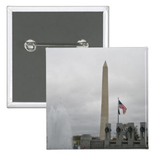 View of the Washington Monument from WWII Memorial Pinback Button