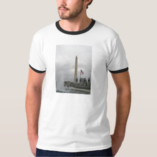 View of the Washington Monument from WWII Memorial T-Shirt