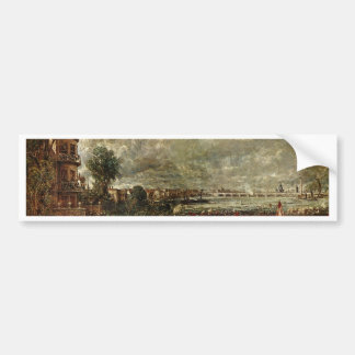 View Of The Waterloo Bridge From Whitehall Stairs Car Bumper Sticker