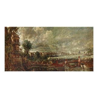 View Of The Waterloo Bridge From Whitehall Stairs Custom Photo Card