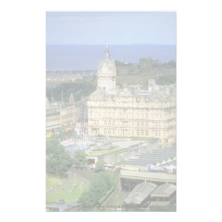 View of the Waverley railroad station Edinburgh Personalized Stationery