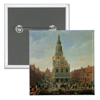 View of the Weighhouse and the Cheese Market Pinback Button