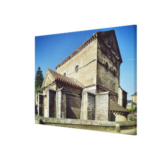 View of the West apse and the apsidiole Stretched Canvas Print