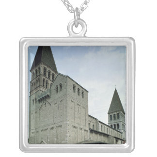 View of the west facade, 10th-11th century silver plated necklace