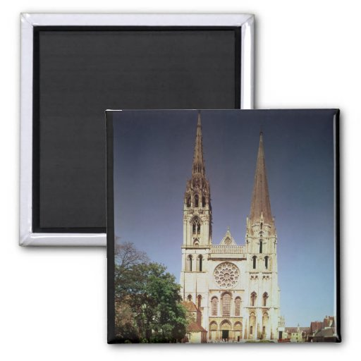 View of the west facade 2 2 inch square magnet