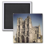 View of the West Facade, c.1220-70 2 Inch Square Magnet