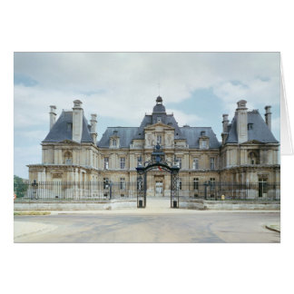 View of the West facade of Chateau de Maisons Greeting Card