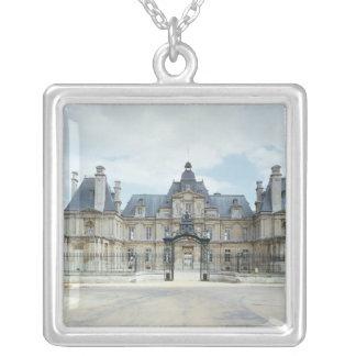 View of the West facade of Chateau de Maisons Square Pendant Necklace