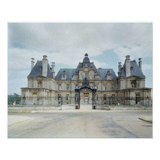 View of the West facade of Chateau de Maisons Poster