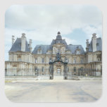 View of the West facade of Chateau de Maisons Square Stickers