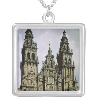 View of the West Front  1738-50 Silver Plated Necklace