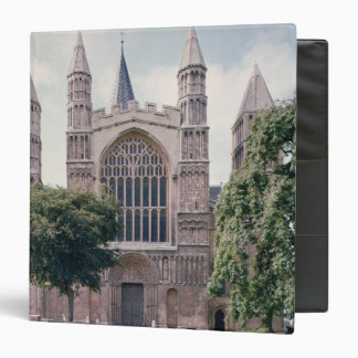 View of the west front of Rochester Cathedral 3 Ring Binder