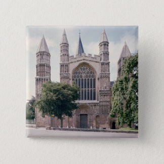 View of the west front of Rochester Cathedral Button