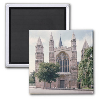 View of the west front of Rochester Cathedral Magnets