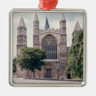 View of the west front of Rochester Cathedral Metal Ornament