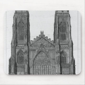 View of the West Front of York Cathedral Mouse Pad