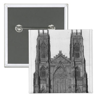 View of the West Front of York Cathedral Pinback Button