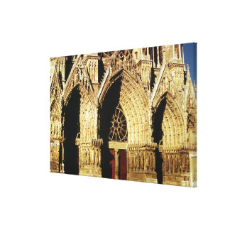 View of the West Front portals Canvas Print
