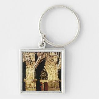 View of the West Front portals Key Chain