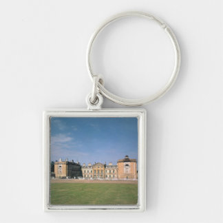 View of the west front, rebuilt 1746-61 Silver-Colored square keychain