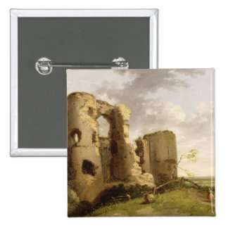 View of the West Gate of Pevensey Castle, Sussex, Button