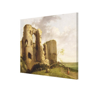 View of the West Gate of Pevensey Castle, Sussex, Canvas Print