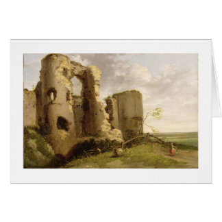 View of the West Gate of Pevensey Castle, Sussex, Card