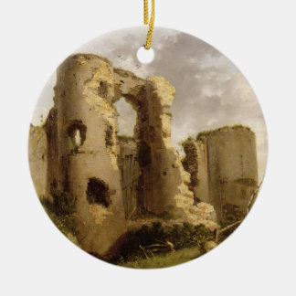 View of the West Gate of Pevensey Castle, Sussex, Ceramic Ornament