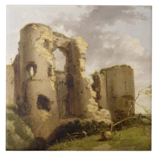 View of the West Gate of Pevensey Castle, Sussex, Ceramic Tile