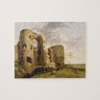 View of the West Gate of Pevensey Castle, Sussex, Jigsaw Puzzle