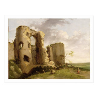 View of the West Gate of Pevensey Castle, Sussex, Postcard
