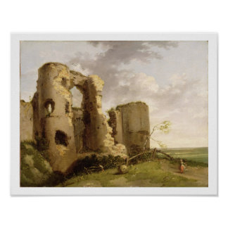 View of the West Gate of Pevensey Castle, Sussex, Poster