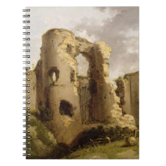 View of the West Gate of Pevensey Castle, Sussex, Spiral Notebook