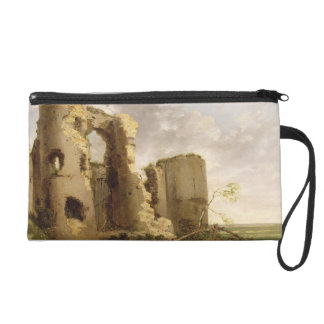View of the West Gate of Pevensey Castle, Sussex, Wristlet Purse