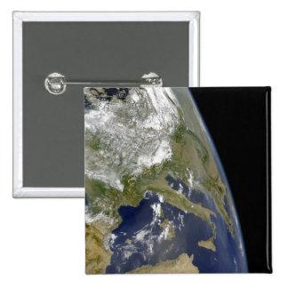 View of the western Mediterranean Pinback Button