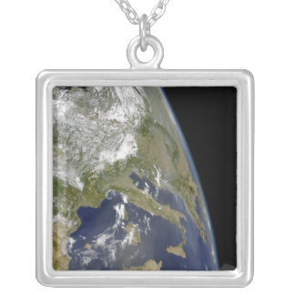 View of the western Mediterranean Silver Plated Necklace