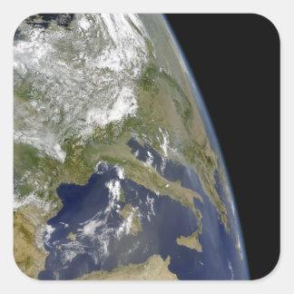 View of the western Mediterranean Square Sticker