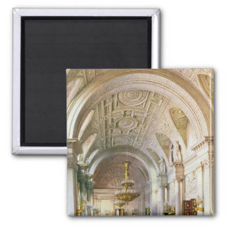 View of the White Hall in the Winter Palace Fridge Magnet