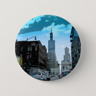 View of the Willis Tower Pinback Button