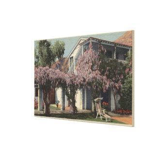 View of the Wisteria Pergola, Oasis Hotel Canvas Print