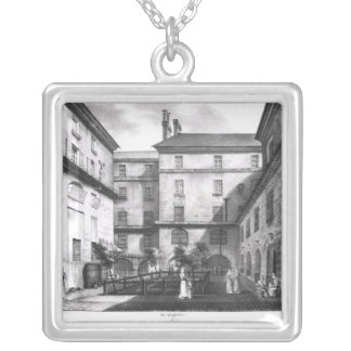View of the Women's Yard Silver Plated Necklace