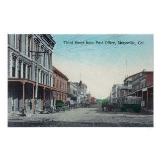 View of Third Street from the Post Office Poster