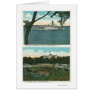View of Ticonderoga Steamer and Ausable Chasm Card